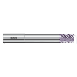 "355MLR 1/2 Ø 5/8 x 4"" x 1/2 5 Flute .015 Radius Single End Specialty Extended Reach Carbide End Mill AlTiN"