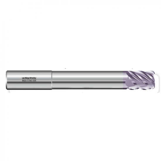 "355MLR 1/2 Ø 5/8 x 8"" x 1/2 5 Flute .125 Radius Single End Specialty Extended Reach Carbide End Mill AlTiN"