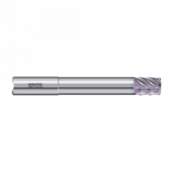 "377MLR 3/4 Ø 1"" x 12"" x 3/4 7 Flute .030 Radius Single End Specialty Extended Reach Carbide End Mill AlTiN"